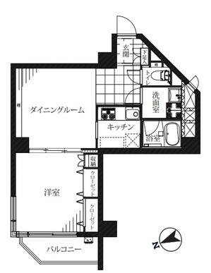 チュリス氷川坂 407号室平面図.jpg