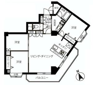 ライオンズマンション千駄ヶ谷403間取り.jpg